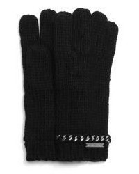 Michael Kors Michl Kors Chain Embellished Knitted Gloves
