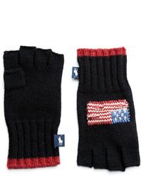 Polo Ralph Lauren Patriotic Fingerless Wool Gloves