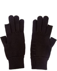 Rick Owens Fingerless Knit Gloves