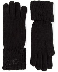Salvatore Ferragamo Gancio Knit Gloves
