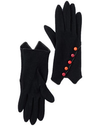 Vincent Pradier Multi Button Wool Gloves