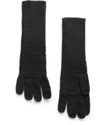 Violeta BY MANGO Long Knit Gloves