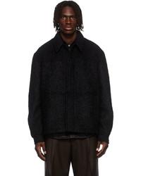 Sean Suen Black Alpaca Mohair Boucl Blouson Jacket