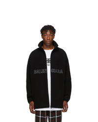 Balenciaga Black Wool Logo Jacket