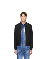 DSQUARED2 Black Wool Tropical Jacket
