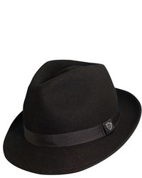 Dorfman Pacific 1921 Crushable Felt Fedora Black