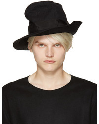 Attachment Black Creased Hat