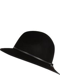 River Island Black Fedora Hat
