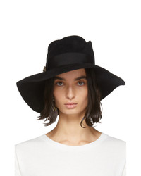 Gucci Black Felt Wide Brim Hat