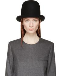 Stella McCartney Black Felted Wool Hat