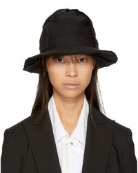 Y's Black Four Piece Patch Fedora