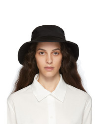 Ys Black Gabardine Tied Hat