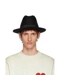 AMI Alexandre Mattiussi Black Merino Felt Hat