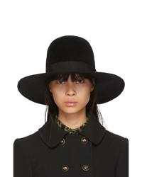 Dolce And Gabbana Black Rabbit Fur Fedora