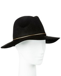 Black Rancher Hat With Tan Band