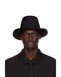 Yohji Yamamoto Black Wool Horseshoe Hat