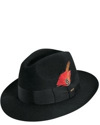 Classico wool felt fedora black medium 135450