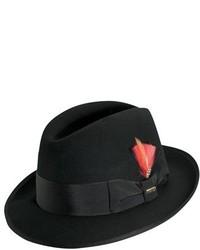 Classico wool felt fedora black medium 135467