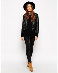 60ec4cc50b8919 Asos Collection Felt Fedora Hat With Wide Band And Stitch Edge, $33 ...