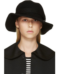 Comme des Garcons Comme Des Garons Comme Des Garons Black Wide Brim Wool Hat
