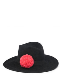Eugenia Kim Dita Wool Felt Panama Hat Black