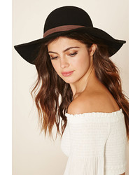 Forever 21 Faux Suede Banded Wool Hat