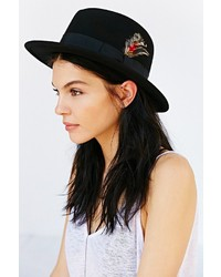 BDG Feather Trim Slouch Fedora