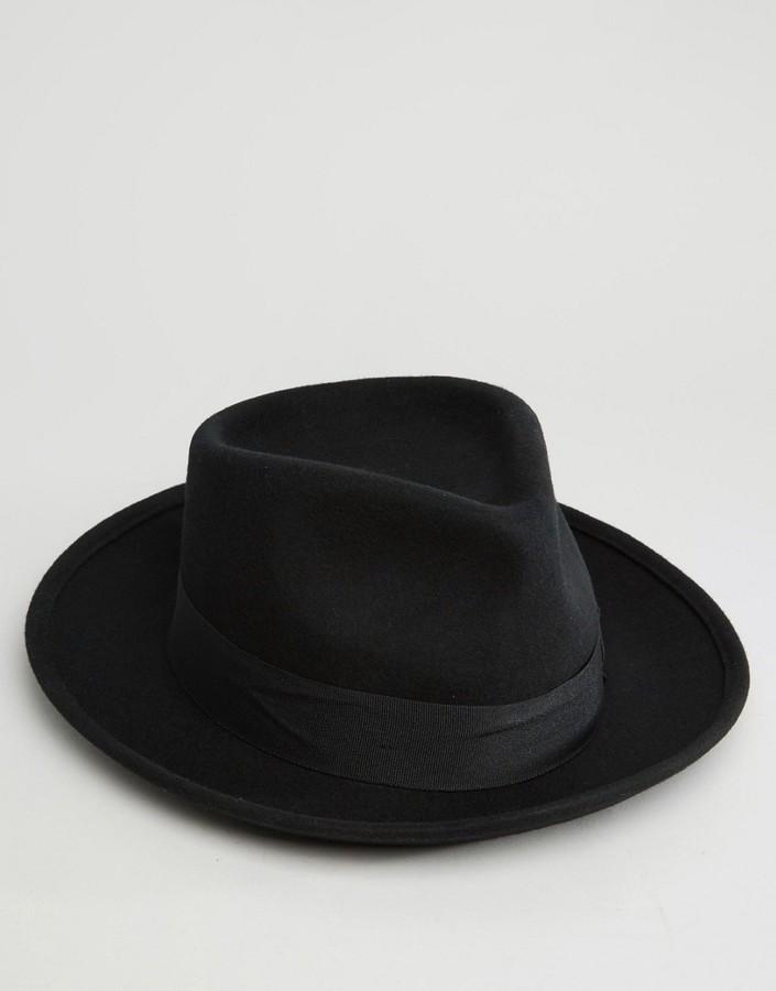 ... Brixton Fedora Hat Swindle With Wide Brim ... 7f762b7f5d9