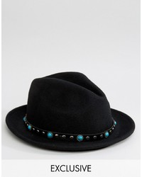 Reclaimed Vintage Fedora With Trim