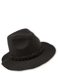 Felt Fedora Hat With Braided Band