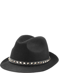 Valentino Felted Wool Hat With Rockstuds