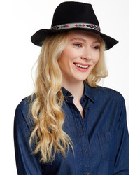 Free Press Aztectrim Wool Felt Panama Hat