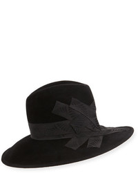Philip Treacy Gangster Trilby Hat Wband