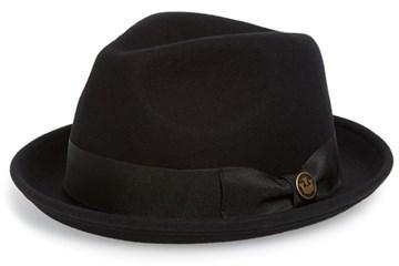 e734c750 Black Wool Hats Goorin Bros. Goorin Brothers The Good Boy Felt Wool Fedora  ...