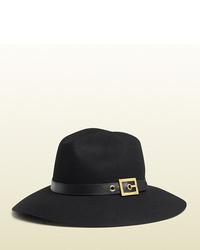 Gucci Black Felt Hat