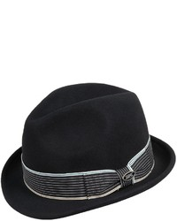 Dorfman Pacific Headwear Dpc Wool Felt Snap Brim Fedora Hat