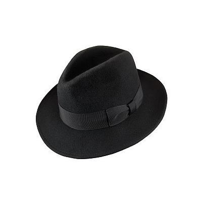 2b13ef8c08eb8 ... Jaxon Hats Crushable Pinch Crown Fedora Black
