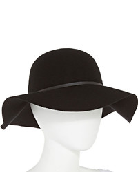jcpenney Manhattan Hat Company Black Floppy Wool Hat