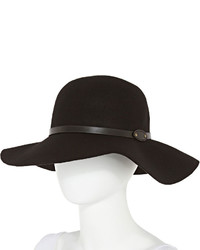 jcpenney Manhattan Hat Company Studded Band Black Floppy Wool Hat
