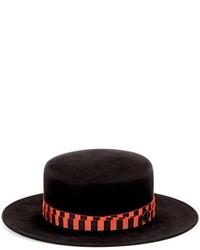 Maison Michel Kiki Bondage Rabbit Felt Boater Hat