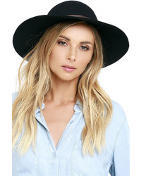 Billabong Lovely Dream Black Floppy Hat