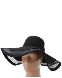 BCBGMAXAZRIA Mesh Stripe Floppy Traditional Hats