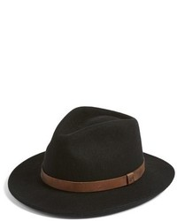 Brixton Messer Ii Felted Wool Fedora Brown