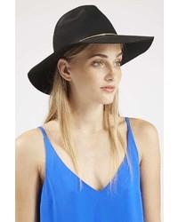 ... Topshop Metal Trim Wide Brim Fedora Hat ab579fb20dd