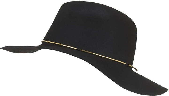 cf6636e28a1c7 ... Topshop Metal Trim Wide Brim Fedora Hat ...