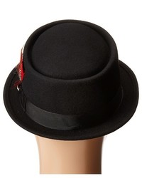 a007869f Scala Narrow Brim Pork Pie Hat With Ribbon Trim, $54 | Zappos ...