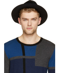 Burberry Prorsum Black Rabbit Felt Round Hat