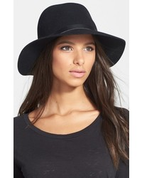 Rag & Bone Floppy Brim Felted Wool Fedora Black