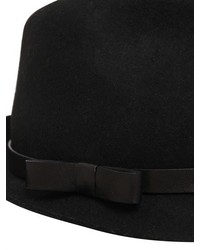 ... RED Valentino Wool Felt Fedora Hat With Leather Band ... 07b2a5d87d5b