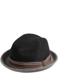 Sinatra Two Tone Wool Felt Fedora Hat